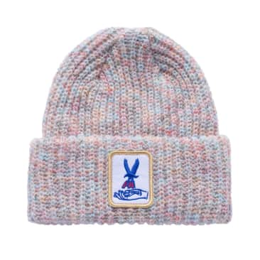 Fucking Awesome Beanie Hawk Speckle White