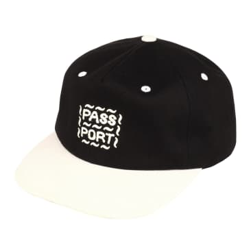 Pass~Port Messy Logo Cap - Black / Natural