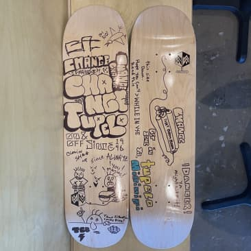 Custom CHEEKS Art - Mini Logo Skateboard Decks - 8.25""