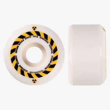 Madness Hazard Sign CP Conical Surelock Skateboard Wheels - 53mm