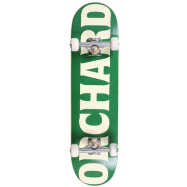 Orchard Text Logo Green/Cream Standard Complete Skateboard 8.1 (With Free Skate Tool)