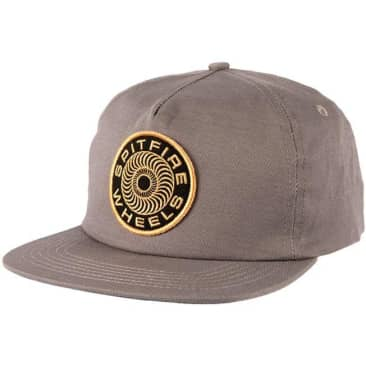 Spitfire Classic 87 Swirl Patch Snapback Hat (Charcoal)
