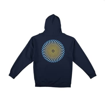 Spitfire Classic Swirl Fade Hoodie - Navy/Gold