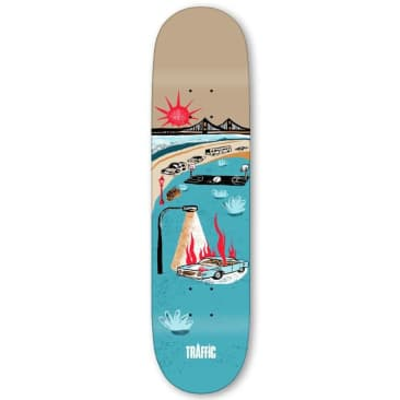 Traffic Skateboards Courts City Blocks Skateboard Deck - 8.5""