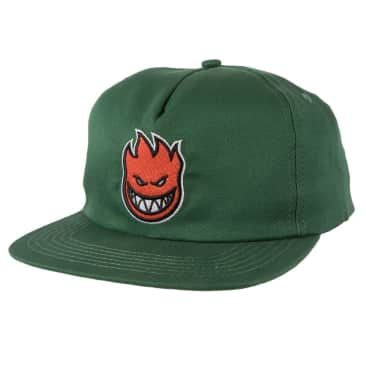 SPITFIRE BIGHEAD FILL SNAPBACK HAT - DARK GREEN/RED