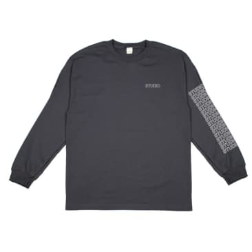 Studio Sport Block L/S T-Shirt - Charcoal