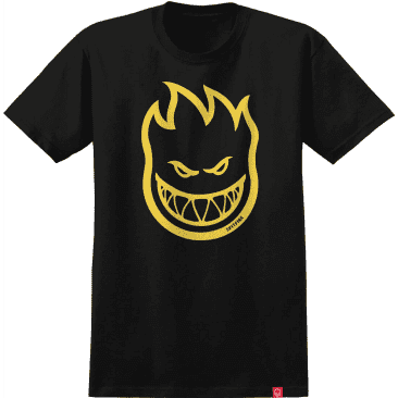 Spitfire Bighead Youth T-Shirt (Black/Yellow)