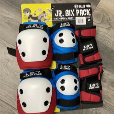 187 Killer Pads Red White and blue jr 6 pack