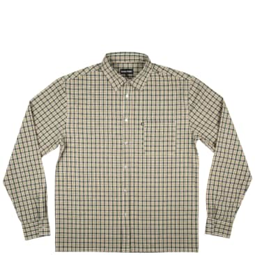 Pass~Port Woven Check Long Sleeve Shirt - Green