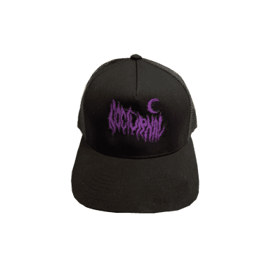 Nocturnal Metal Logo Trucker Cap (Black)