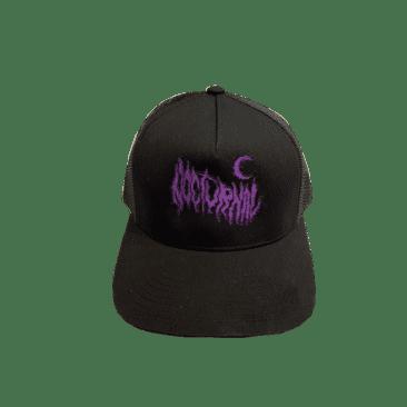 Nocturnal Metal Logo Trucker Cap (Black)