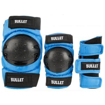 Bullet - Triple Pad Set - Blue / Black - Junior One Size Fits All