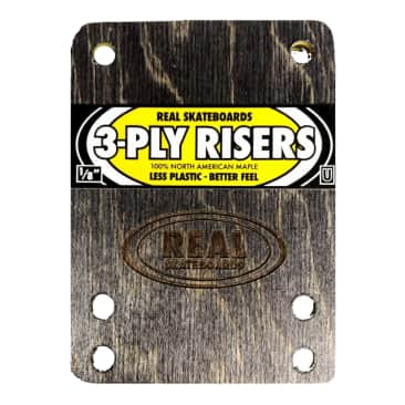 """REAL Skateboards 3-Ply 1/8"""" Wooden Riser Pads- Universal"""