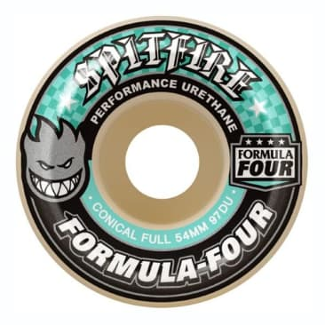 Spitfire Formula Four Conical Full Natural Wheels (97D) - (56mm)