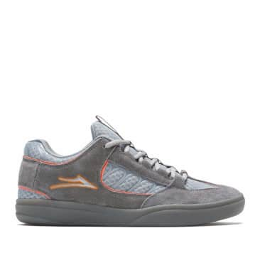 Lakai Carroll Suede Skate Shoes - Grey / Orange