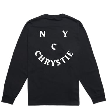 Chrystie NYC Smile Logo Long Sleeve T-Shirt - Black