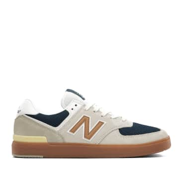 New Balance All Coasts 574 Shoes - White / Gold