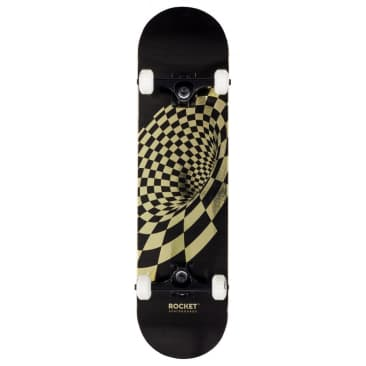 Rocket Vortex Gold Foil Complete Skateboard - 8.0""