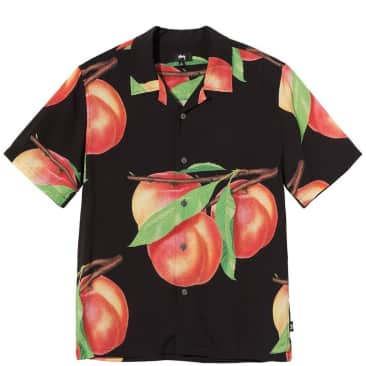 Stüssy Peach Pattern Shirt - Black
