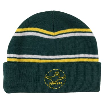 KROOKED Trinity Cuff Beanie Green/Yellow/White