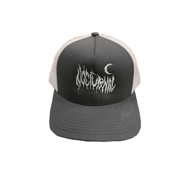 Nocturnal Metal Logo Trucker Cap (Grey/White)