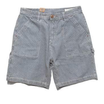 Red Ruggison Carpenter Shorts - Hickory Stripe