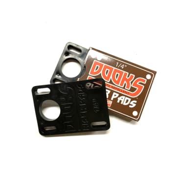 "Shorty's Dooks Riser Pads Black 1/4"" or .25"""