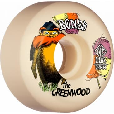 Bones Wheels STF The Greenwood V5 Sidecut 99A White 54MM