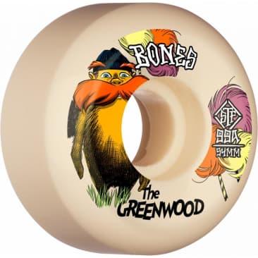 Bones Wheels STF The Greenwood V5 Sidecut 99A White 54MM
