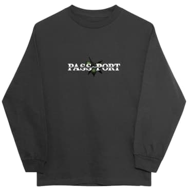 Pass~Port Olive Puff Print Long Sleeve Shirt - Tar