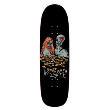 "Welcome Skateboards Zombie Love on Boline Black 9.25"""