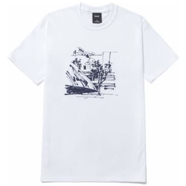 HUF James Jarvis Up T-Shirt - White