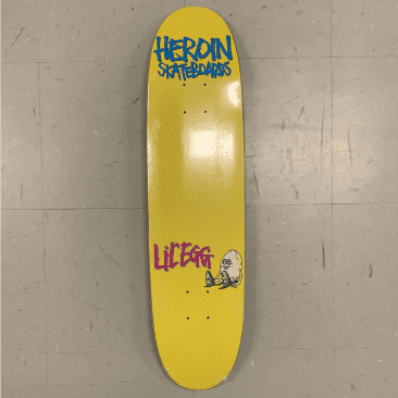 Heroin Skateboards Lil Egg Yellow Shaped Deck 7.9