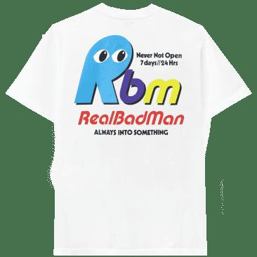 Real Bad Man Never Not Open Short Sleeve T-shirt - White