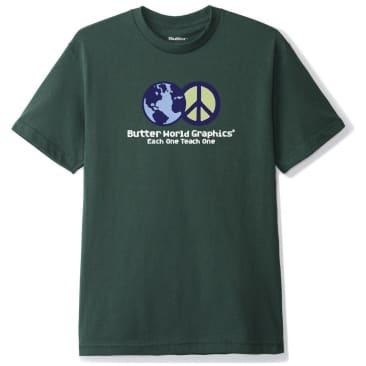 Butter Goods World Peace T-Shirt - Forest Green