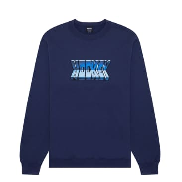 Hockey Fold Crewneck - Navy