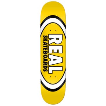 """Real Skateboards Team Classic Oval Deck Yellow 8.06"""""""