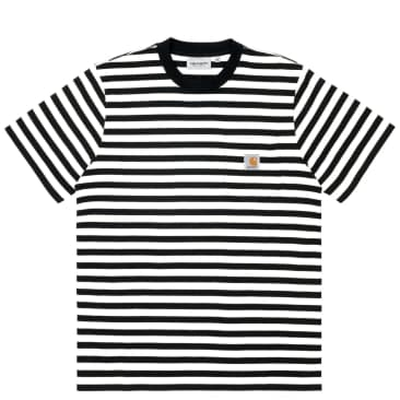 Carhartt WIP Scotty Stripe Pocket T-Shirt - Black / White