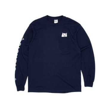 Rip N Dip Lord Nermal Pocket Longsleeve T-Shirt - Navy