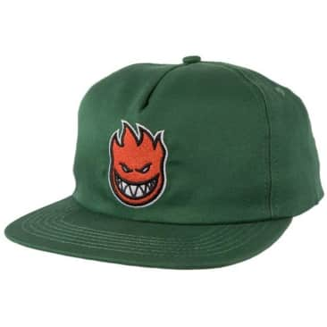 Spitfire Bighead Fill Snapback Hat (Green/Red)