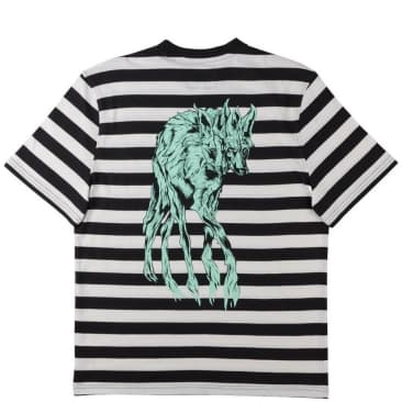 Welcome Skateboards Maned Woof Yarn-Dyed Knit T-Shirt - Black / Bone / Teal