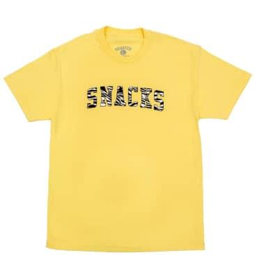 Quartersnacks Varsity T-Shirt - Light Yellow