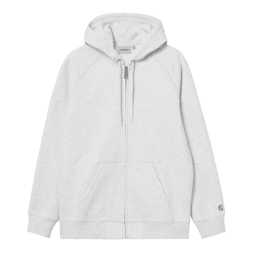 Carhartt WIP Hooded Chase Jacket - Ash Heather/Gold