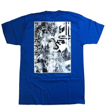 OBEY Cream Icon T-Shirt - Royal