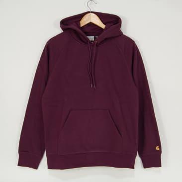 Carhartt WIP - Chase Pullover Hooded Sweatshirt - Shiraz / Gold