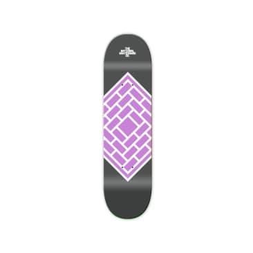 "The National Skateboard Co. Classic Purple Skateboard Deck - 7.5"""