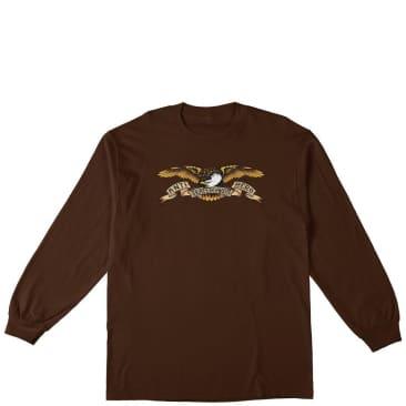 Antihero Eagle Long Sleeve T-Shirt - Chocolate