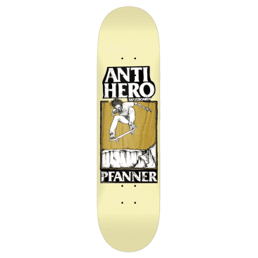 Anti-Hero Skateboards Deck Pfanner Lance Yellow/Brown 8.5""