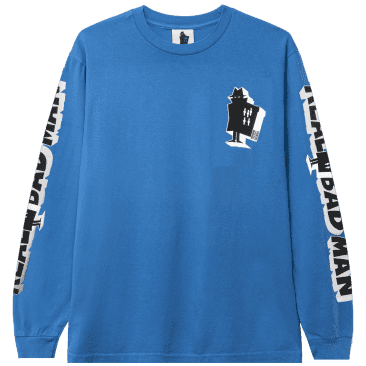 Real Bad Man Graphic Content Long Sleeve T-Shirt - Blusey