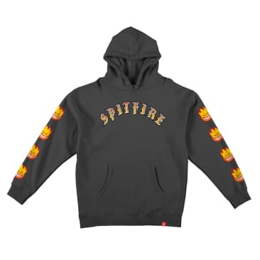 Spitfire Old English Hoodie Charcoal - Large